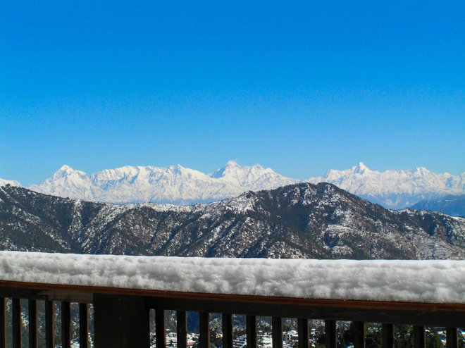 Himalayan View from Soulitude Deck