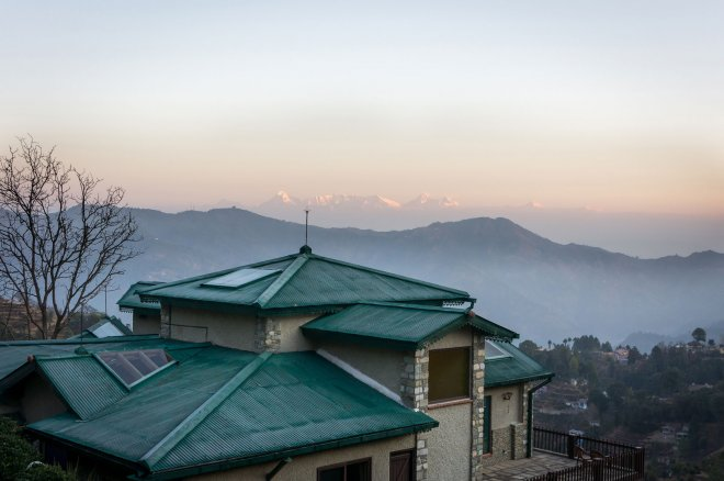 Main House Rooftop and Himalayas