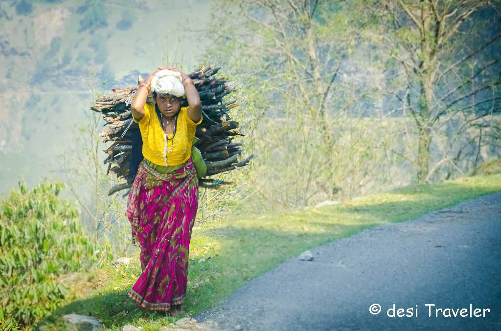 women-carrying-wood-kumaon